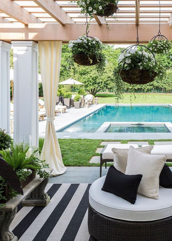 A pergola provides the perfect blend of sun and shade