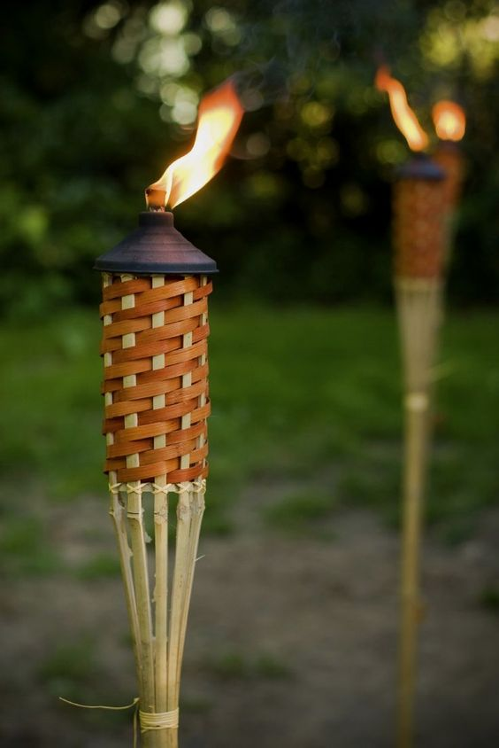 Tiki torches are a great way to add a festive vibe to any outdoor party