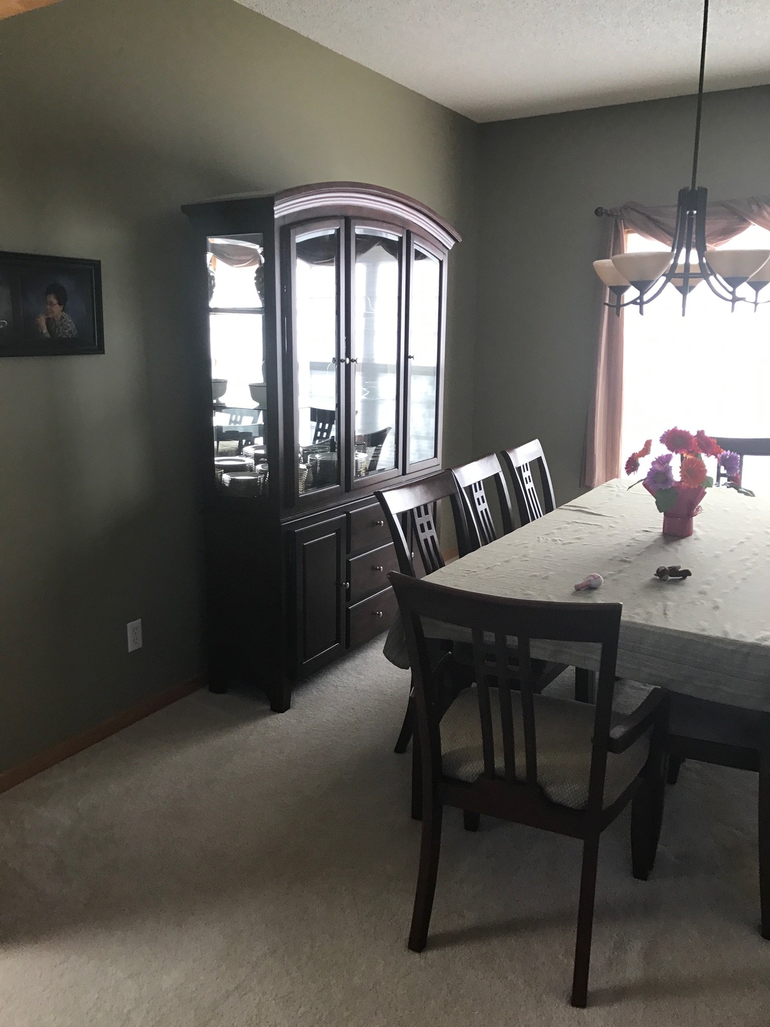 This separate formal dining room was spacious but felt disconnected from the activity of the kitchen (and as a result, was not used as much).