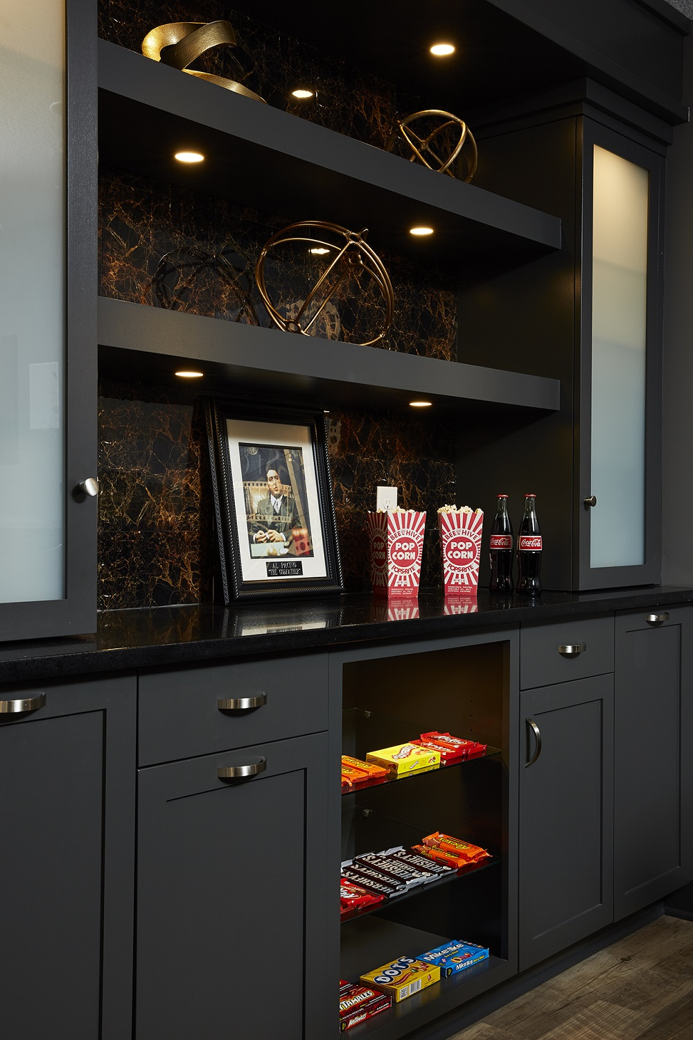 Candy, Black Cabinets