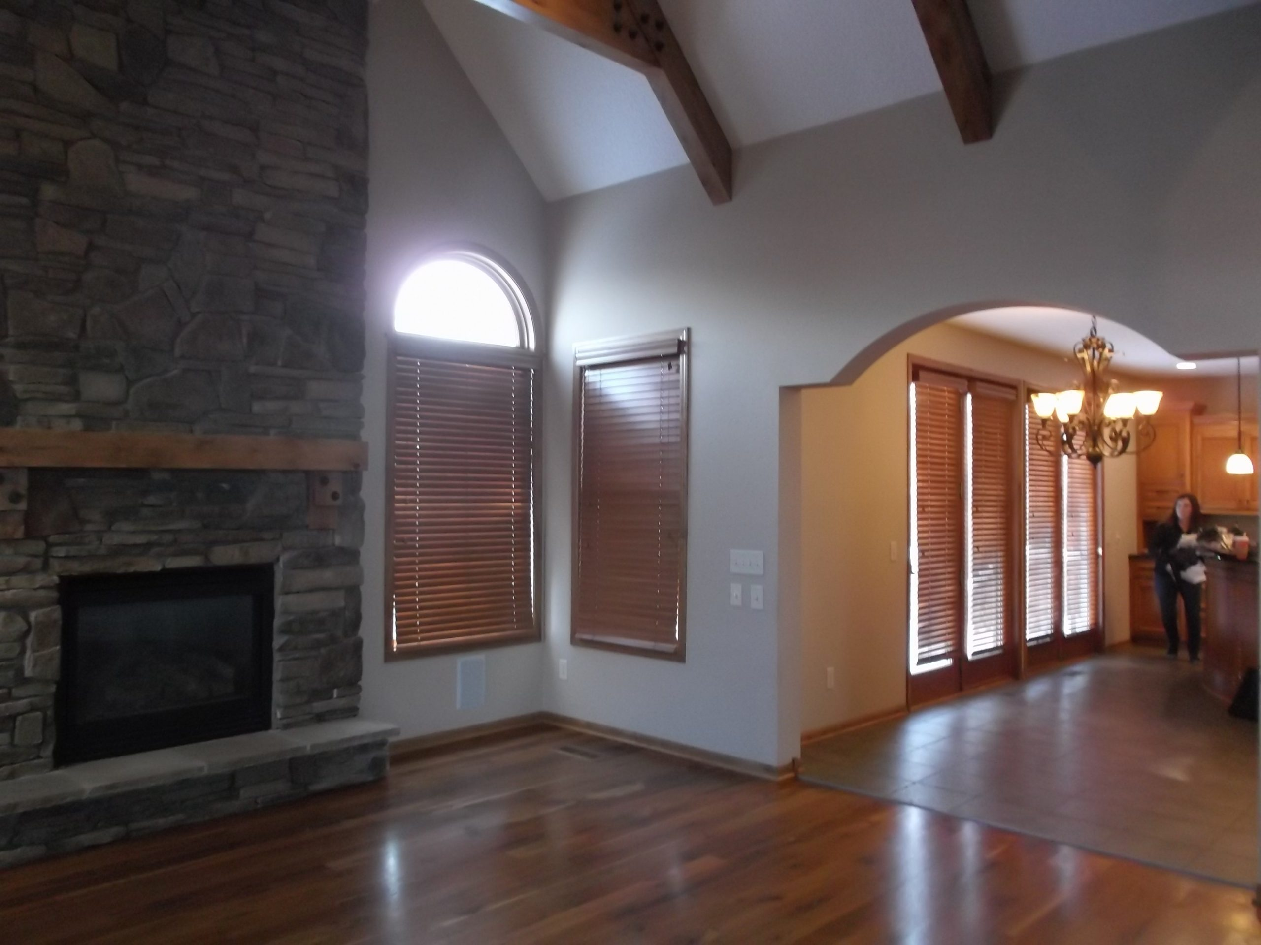 The home's original stone fireplace was too overpowering for the space and needed a contemporary upgrade.