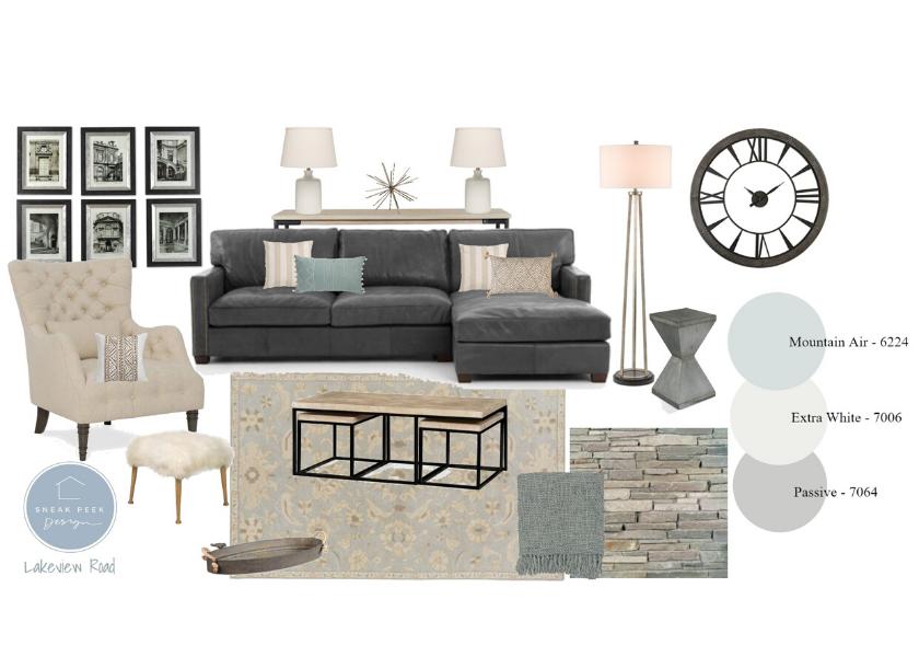 Living Room Mood Board E Design